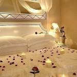 decoracion cama san valentin
